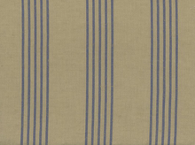 Moda Allover Stripe Toweling Flax and Blue