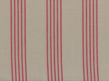 Moda Allover Stripe Toweling Stone and Red