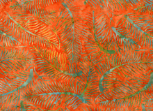 Moda Fern Batik Cotton Orange