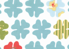Moda Just Wing It Fabric Blossoms Aqua on White by Momo