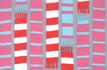 Aneela Hoey Sherbet Pips Scarf Stripes Cotton Grey