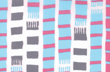 Moda Sherbet Pips Fabric Scarf Stripes Pale Pink by Aneela Hoey