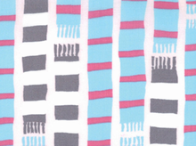 Aneela Hoey Sherbet Pips Scarf Stripes Cotton Pale Pink