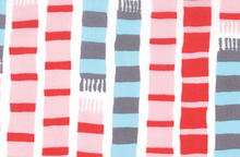 Aneela Hoey Sherbet Pips Scarf Stripes Cotton White