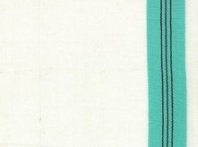 Moda Stripes Toweling White and Aqua
