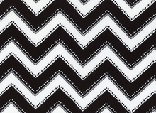 Modern Bliss Chevron Cotton Vintage Black