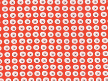 Monaluna Havana Buttons Organic Cotton Red