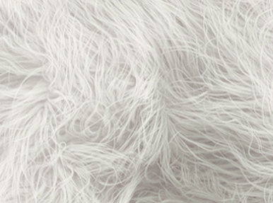 Mongolian Shag Faux Fur Fabric White