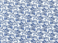 Moody Blues Floral Organic Voile White