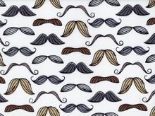 Mustaches Organic Cotton in White