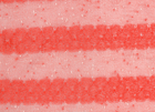 Mydas Stripe Lace Fabric Coral