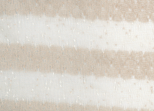 Mydas Stripe Lace Fabric Tan