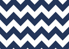 Navy Chevron Stripe Cotton Fabric