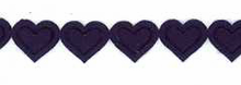Navy Iron On Heart Trim