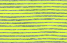 Neon Stripe Jersey Fabric Yellow