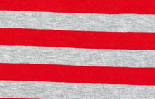 Stripe Knit Red And Grey