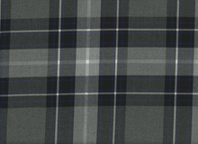 Nirvana Plaid Suiting Fabric Blue and Grey
