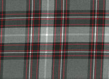 Nirvana Plaid Suiting Fabric Grey and Red