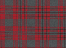 Nirvana Plaid Suiting Fabric Red and Grey
