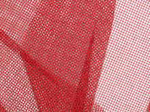 Nylon Mesh Fabric Metallic Red