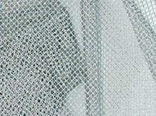 Nylon Mesh Fabric Metallic Silver