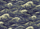 Ocean Waves Cotton Indigo