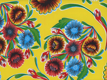 Bloom Oilcloth Yellow