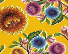Oilcloth Fabric Bloom Yellow
