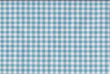 Oilcloth Fabric Gingham Baby Blue