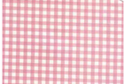Oilcloth Fabric Gingham Baby Pink