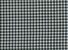 Gingham Oilcloth Fabric Black