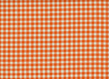 Oilcloth Fabric Gingham Orange
