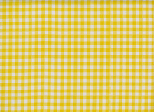 Oilcloth Fabric Gingham Yellow