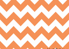Orange Chevron Stripe Cotton Fabric
