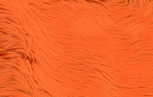 Orange Faux Shag Fur