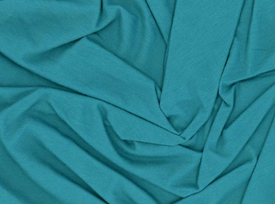 Organic Cotton Knit Fabric Teal