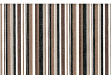 Organic Cotton Upholstery Stripe Brown and Black