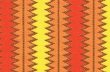 SALE P&B Textiles Aldo to Zippy Fabric Orange Zipper Stripe by Jenn Ski