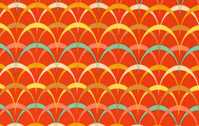 Parabulas Cotton Fabric Orange