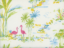 Paradise Scene Cotton White