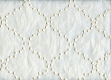 Pearl Drop Embroidery Drapery Fabric Snow