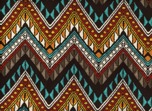 Picasso Chevron Rayon Challis Fabric Brown