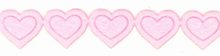 Pink Iron On Heart Trim