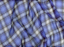 Plaid Chiffon Blue