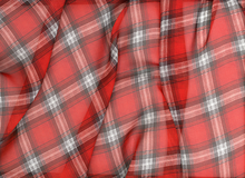 Plaid Chiffon Red