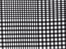 Plaid Knit Black and White