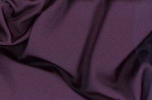 Plum Tahari Satin Fabric