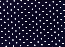 Polka Dot Jersey Knit Navy and White