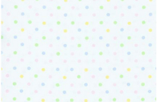 Polka Dot Pima Cotton Fabric Pastel on White