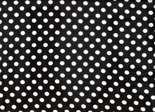 Polka Dot Poly Chiffon Black